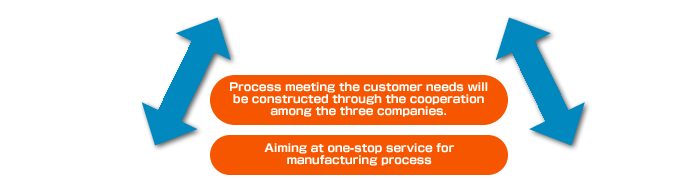 rocess meeting the customer needs will be constructed through the cooperation among the three companies.